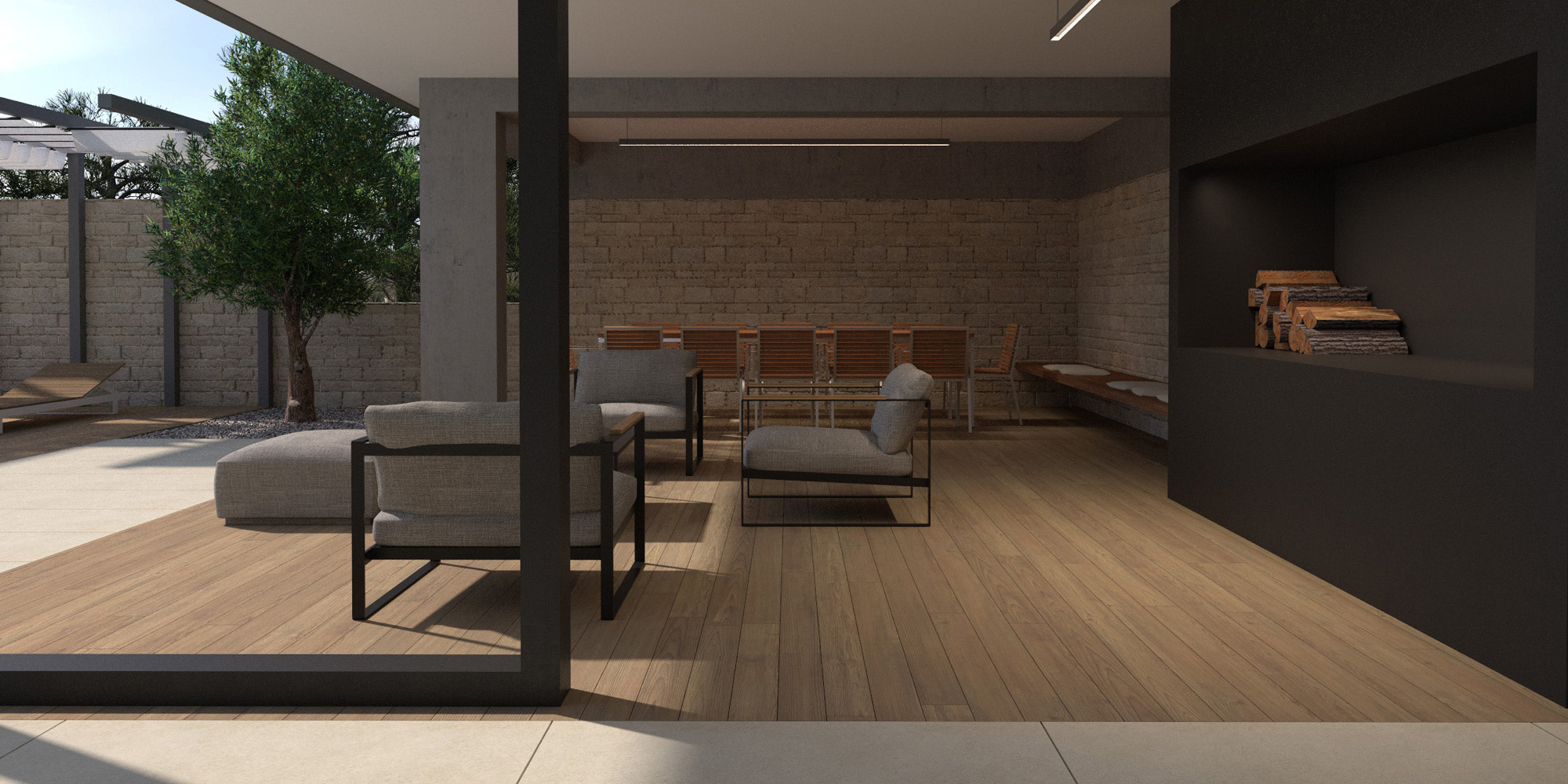 House F interior